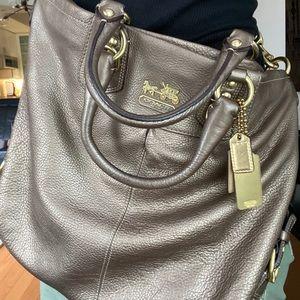 COACH Madison Julianne in Steel Leather EUC